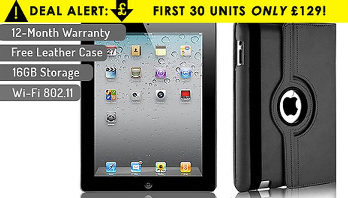Apple iPad 4 (16GB) & Leather Case - FREE Delivery!