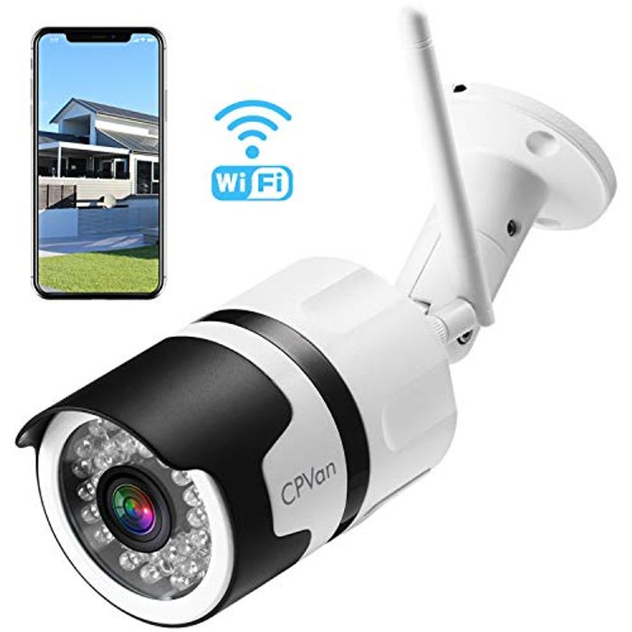 Outdoor Security Camera, IP66 Waterproof WiFi Bullet Camera £34.99 Delivered
