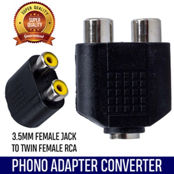 3.5 Female Jack Socket to 2 Female RCA Phono Adapter Deal