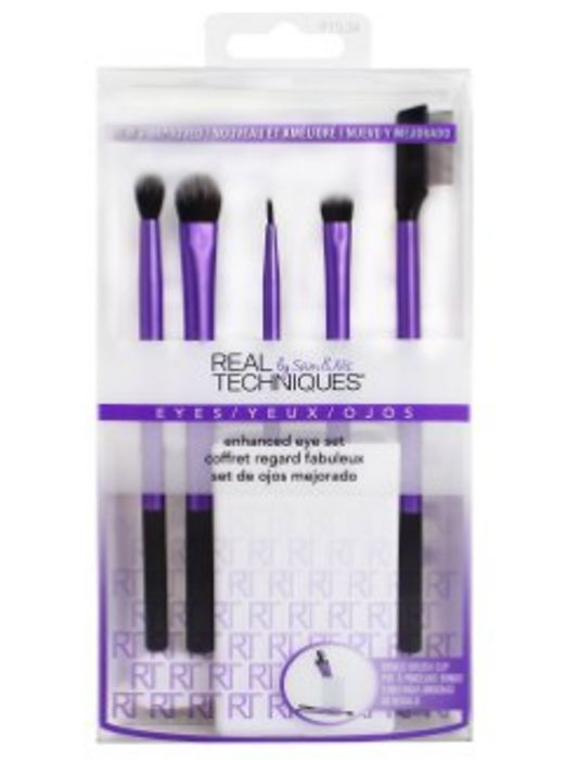 6pc Real Techniques Enhanced Eye Set   Cruelty-Free Eyeshadow Brush Set £6.95