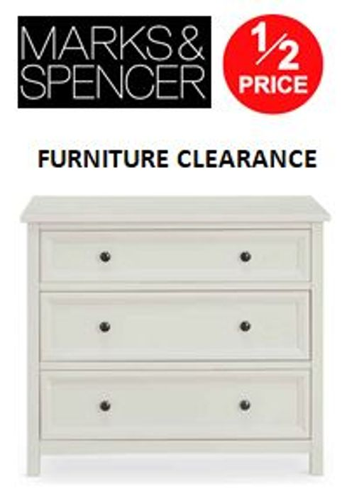 CLEARANCE FURNITURE DEALS at M&S - up to 1/2 OFF!
