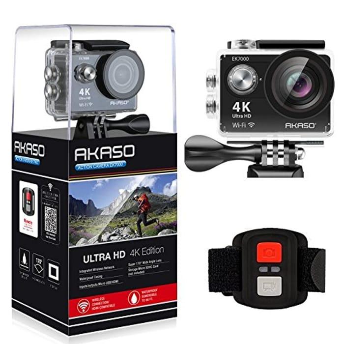 AKASO EK7000 4K Action Camera Ultra HD - 13.35£ (If You Have Three Vouchers