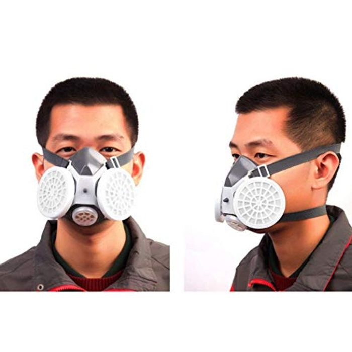 Protective Half Mask Dust Particle Filter Respirator