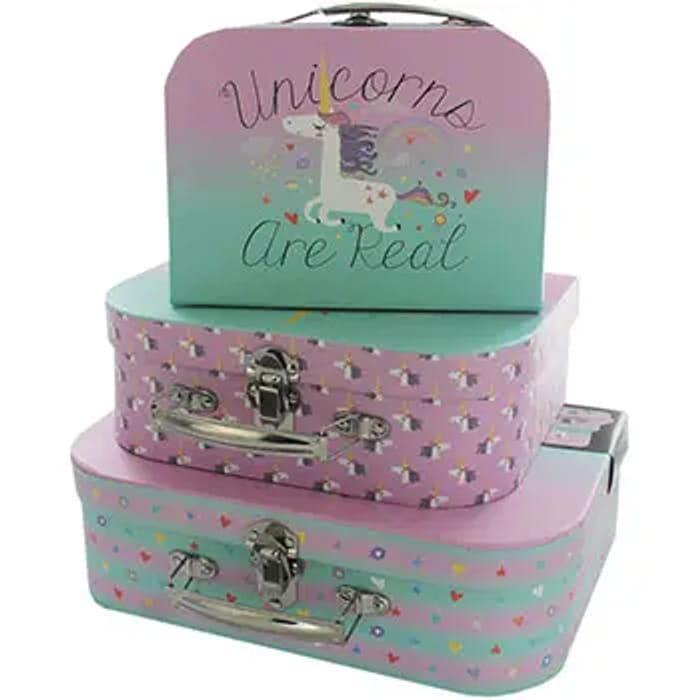 Unicorn Storage Suitcase - Set of 3