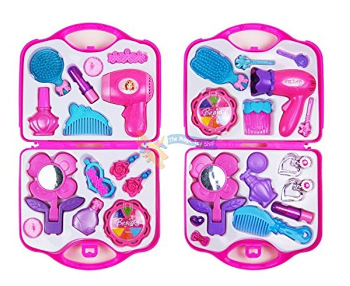 Girls Toy Vanity Beauty Cosmetic Bag Carry Case