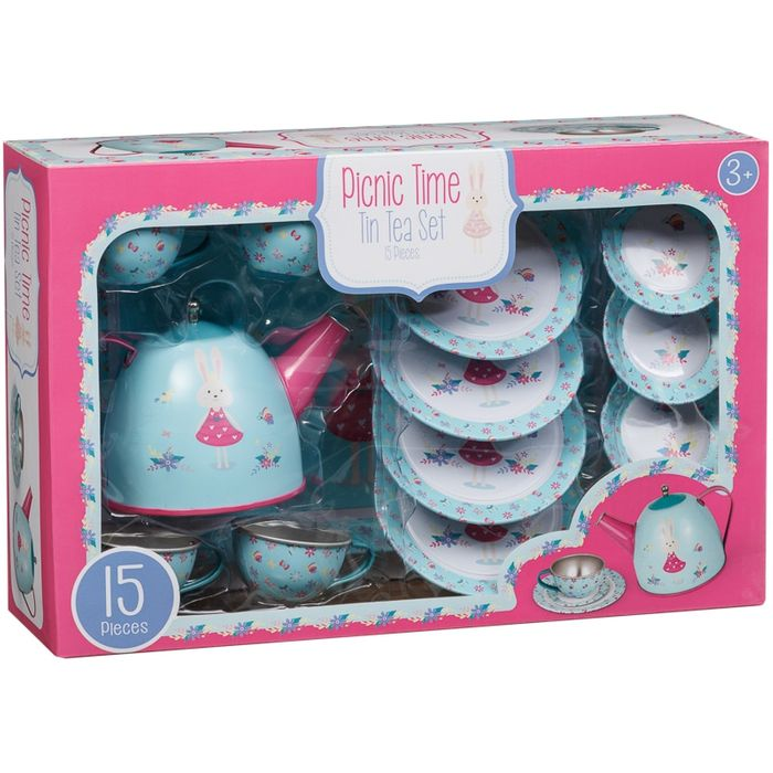 Picnic Time Kids Tin Tea Set 15pc