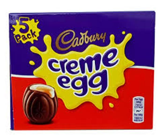 Half Price 5 Pack of Cadburys Creme Eggs or 5 pack Cadburys Caramel Eggs