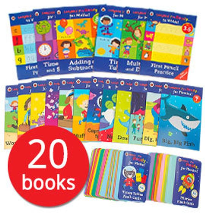I'm Ready to Learn Collection 20 Books Phonic Readers Sticker Books Flash Cards