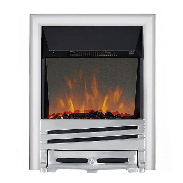 *SAVE £120* Focal Point Horizon Chrome Effect LED Reflections Electric Fire
