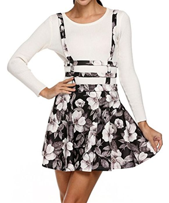 Womens Girls Sweet Floral High Waist Mini Skirt