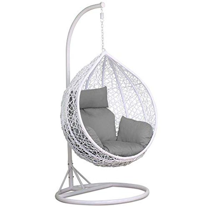 Egg Shaped Rattan Swinging Chair - 21% Off