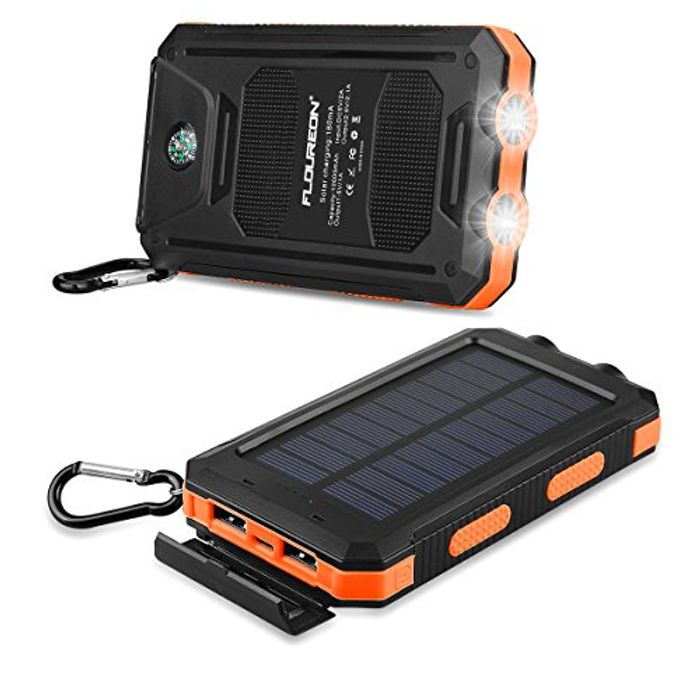 FLOUREON 10,000mAh Power Bank Portable Phone Solar Charger