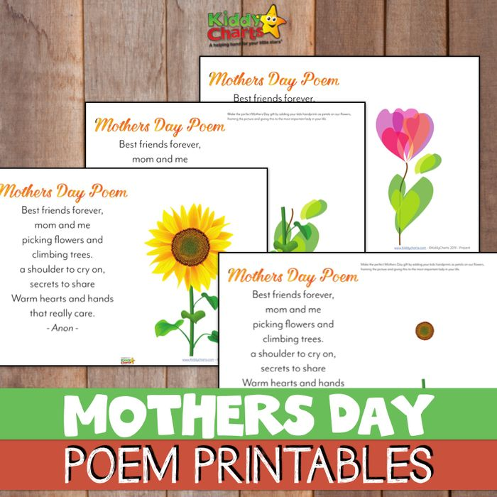Free Handprint Mothers Day Poem Printable
