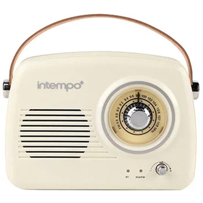 Intempo Retro FM Radio Bluetooth Speaker - Cream