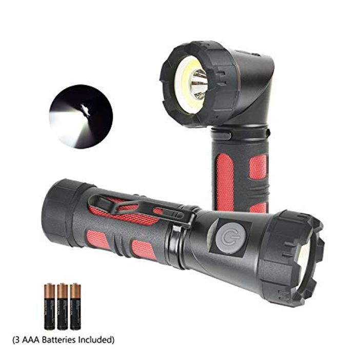 LED Flashlight Torch Tactical Torch,Magnetic Adjustable-Head