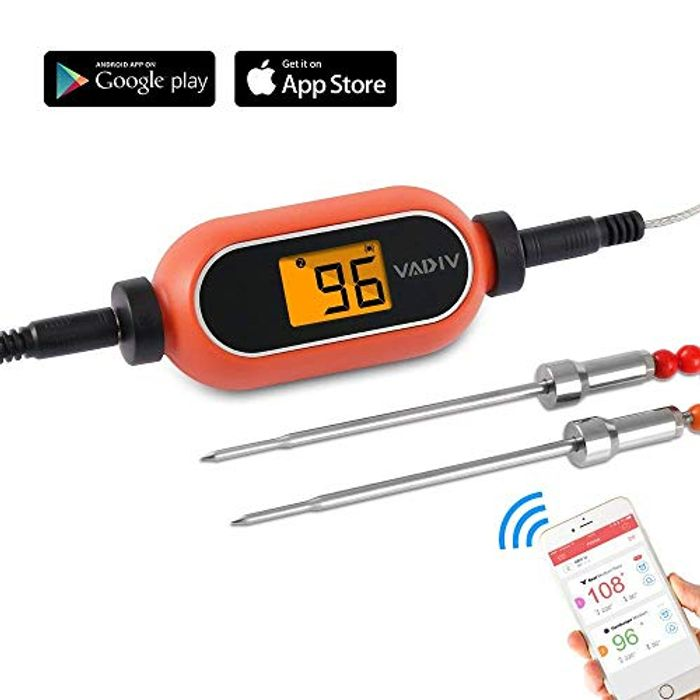 Food Thermometer, Wireless Remote Meat Thermometer with Dual Probe