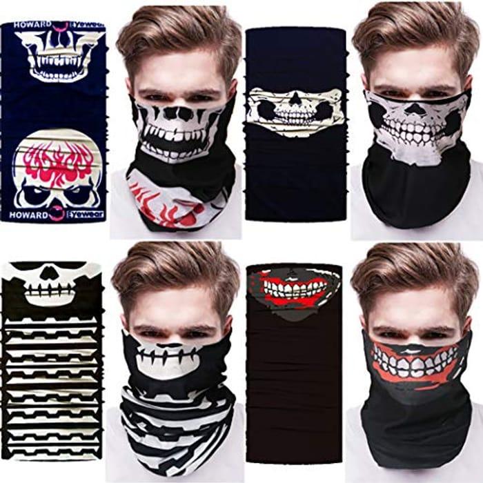 4 Pack Half Skull Face Mask