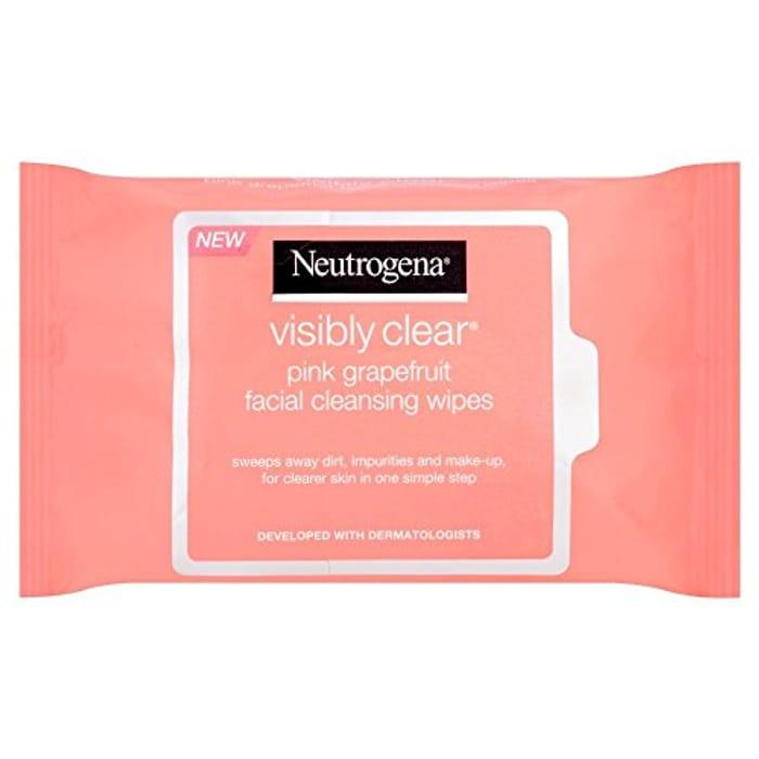 Neutrogena Pink Grapefruit Medicated Facial Wipes - Add on Item - NEED PRIME