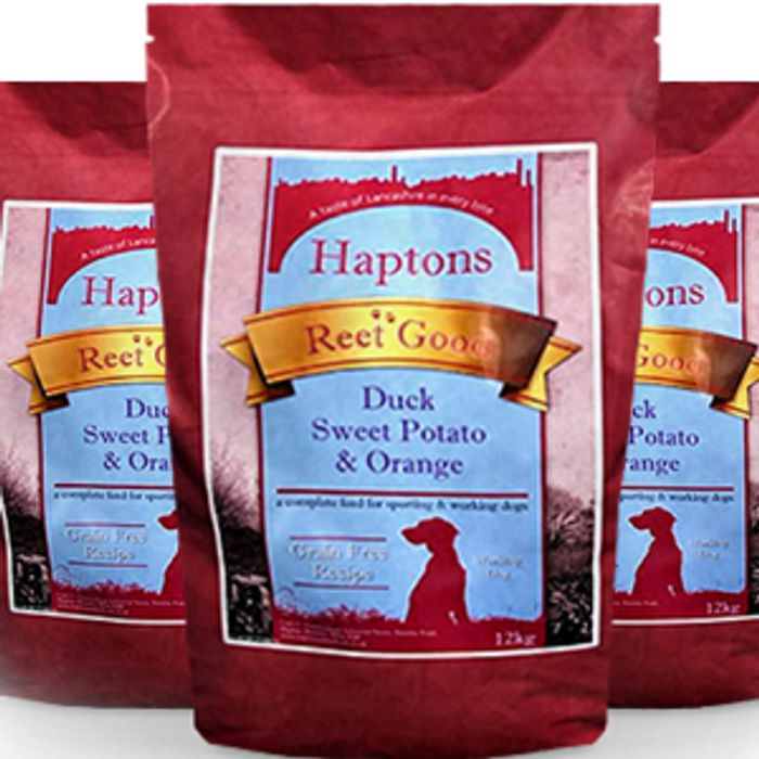 Free Haptons Reet Good Dog Food Sample - 7 Different Flavours To Choose From