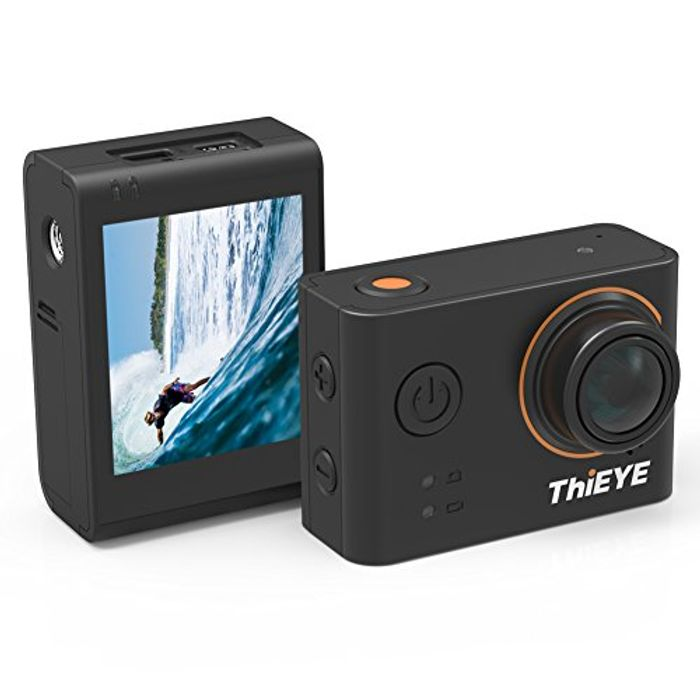 Action Camera WiFi Sports Camera 4K Waterproof 60M 12MP - Save £30 with Code