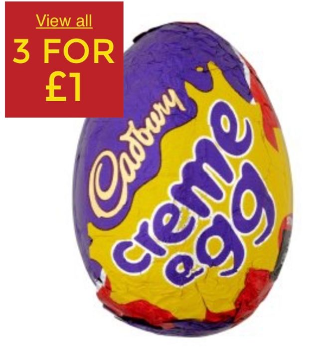 Cadbury Single Creme Egg - 3 for £1