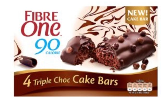 Fibre One 90 Calorie Triple Choc Cake Bars - Almost HALF PRICE!