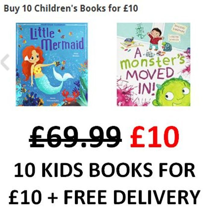 Awesome! Any 10 Children's Books for £1 Each! Free Delivery Too!