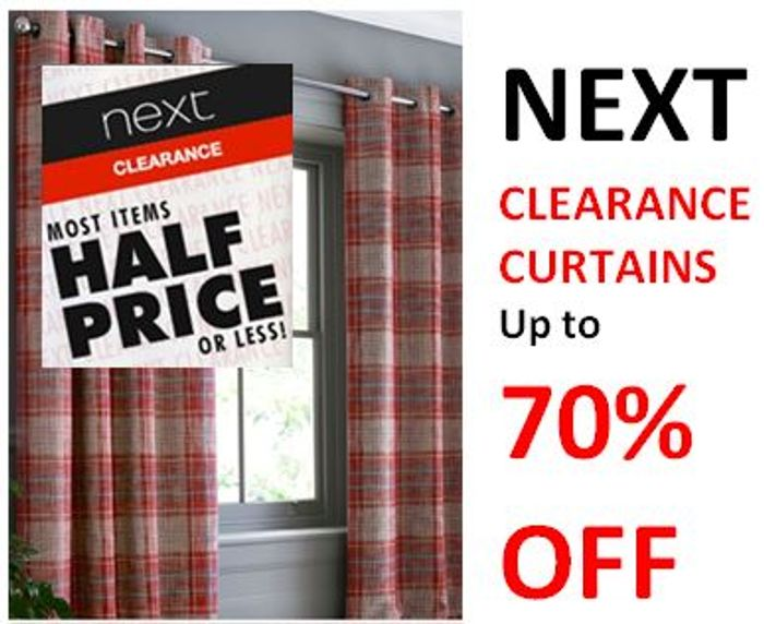 CLEARANCE CURTAINS at NEXT - 50% to 70% OFF
