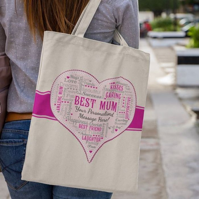 Free Personalised Mothers Day Bag (P&p £3.95)