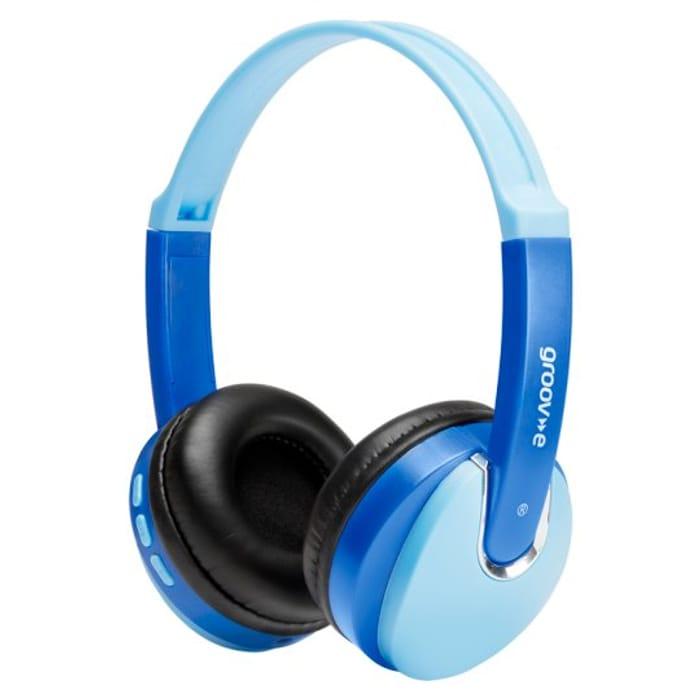Groov-E Kidz Bluetooth Headphones Blue - Save £7