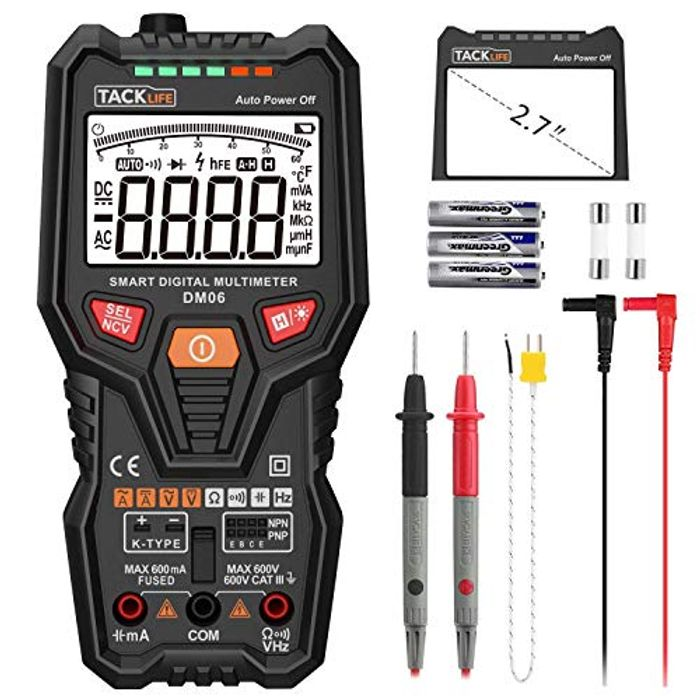 Tacklife Multimeter DM06 Digital Tester Auto Range
