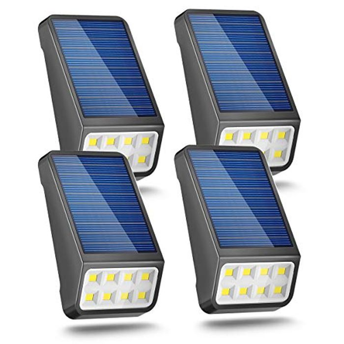 4 Pack of Solar Fence Wall Lights - £8.50 from Amazon!