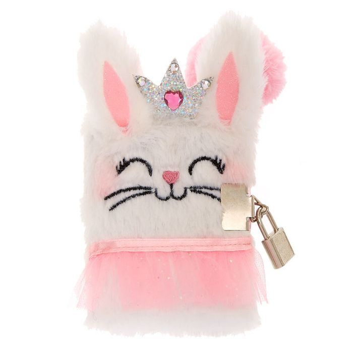 Claire's Club Claire the Bunny Lock Plush Diary (Buy3 & Get3 Free)