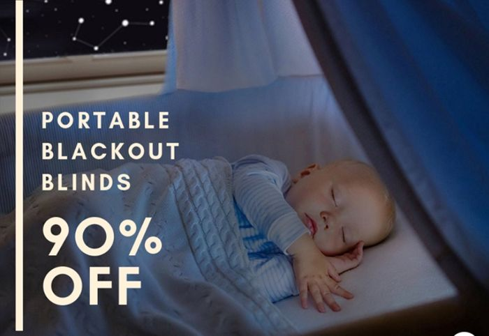 Portable Black out Blind with 90% off