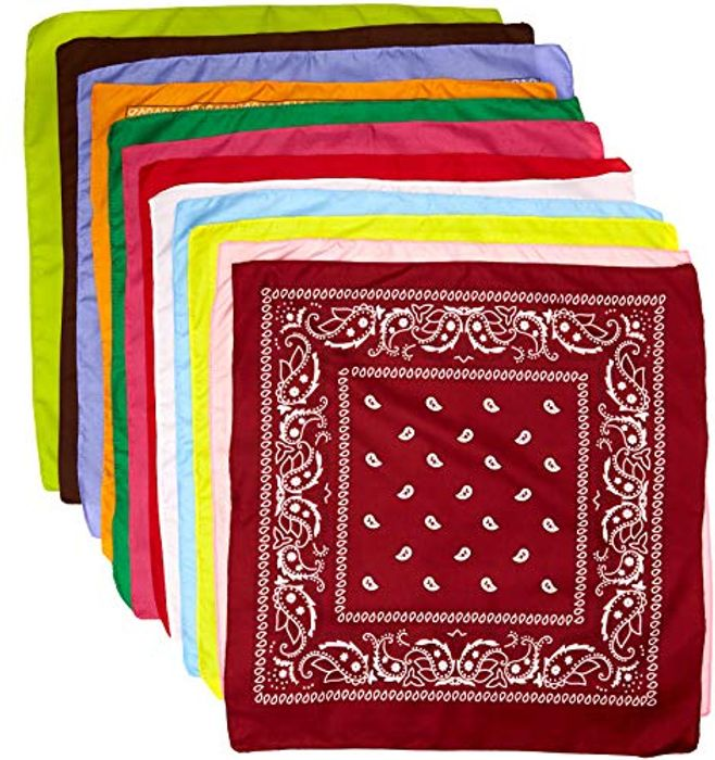 Set of 12 Paisley Bandana's, 12 Colours ..