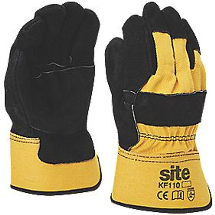 Site Kf110 Premium Rigger Gloves Yellow / Black Large