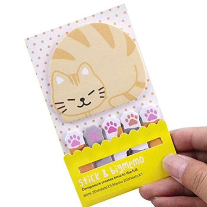 HURRY- Reduced Cute Cat Postitnotes!!