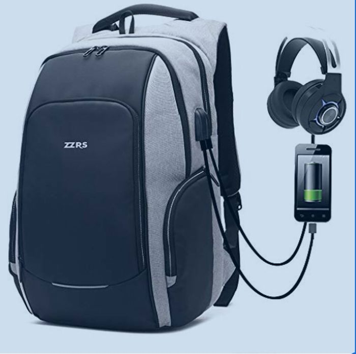 High-Capacity Backpack with Anti-Theft Waterproof of USB Charging Port
