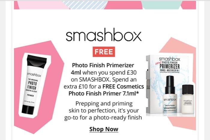Free Photo Finish Primerizer When You Spend £30 on SMASHBOX