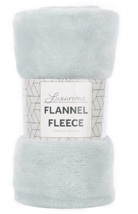 Robert Dyas Flannel Fleece Throw - Duck Egg Only £4.44