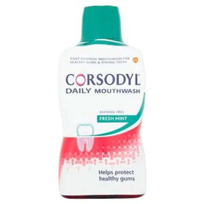 Corsodyl Daily Alcohol Free Mouthwash Freshmint 500ml