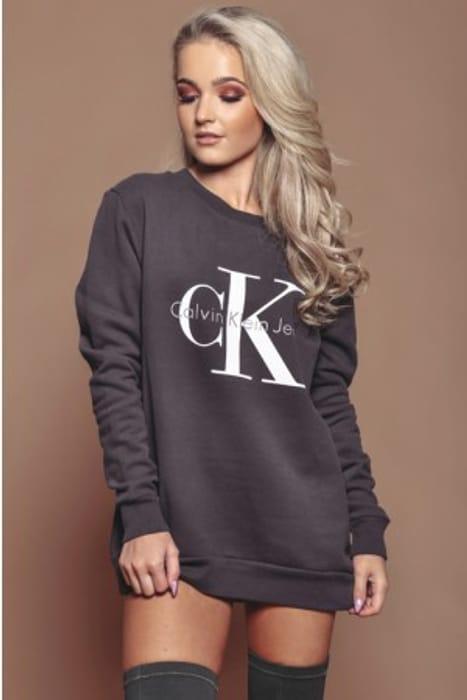 Calvin Klein Grey Logo sweatshirt...only a Handful Left