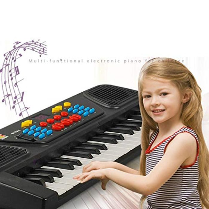 Kids Electric Piano with Mic 37 Keys Chargable Portable Multifunctional