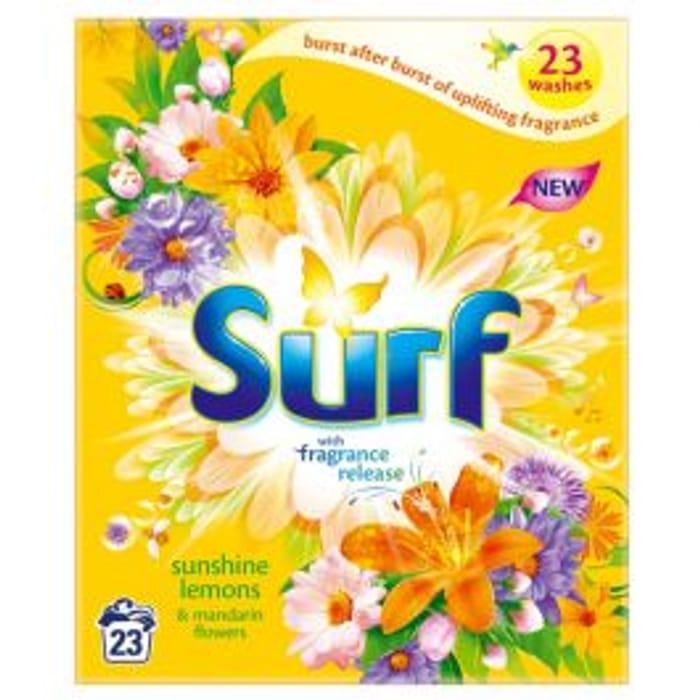 Surf Powder Sunshine Lemons and Mandarin Flowers 23 Washes 1.6kg