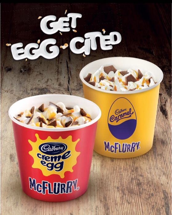 Small, Cadbury's Creme Egg Mcflurry & Cadburys Caramel Mcflurry 99p!!!