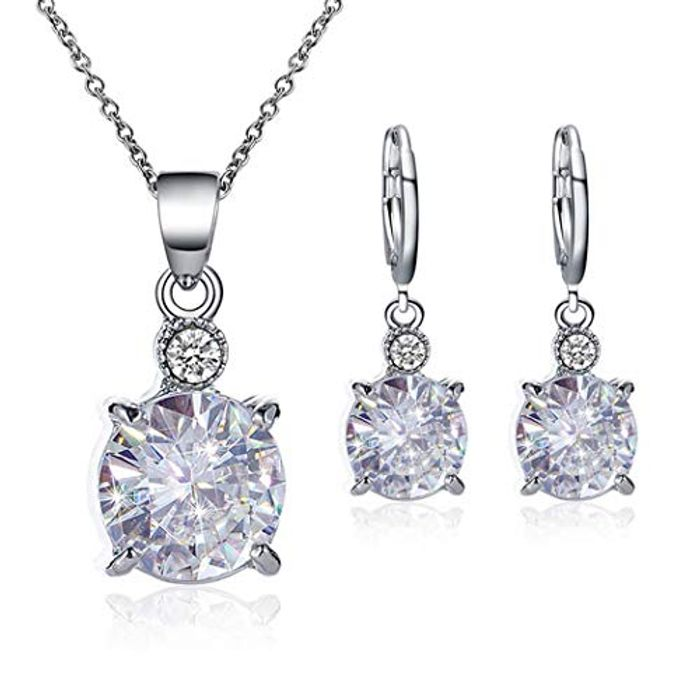 Women Necklace and Earrings Charm Jewelry Set Jewellery Sets