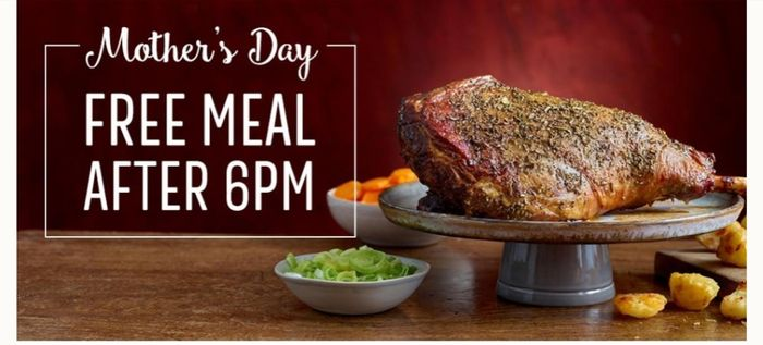 Free Mothers Day Dinner after 6pm
