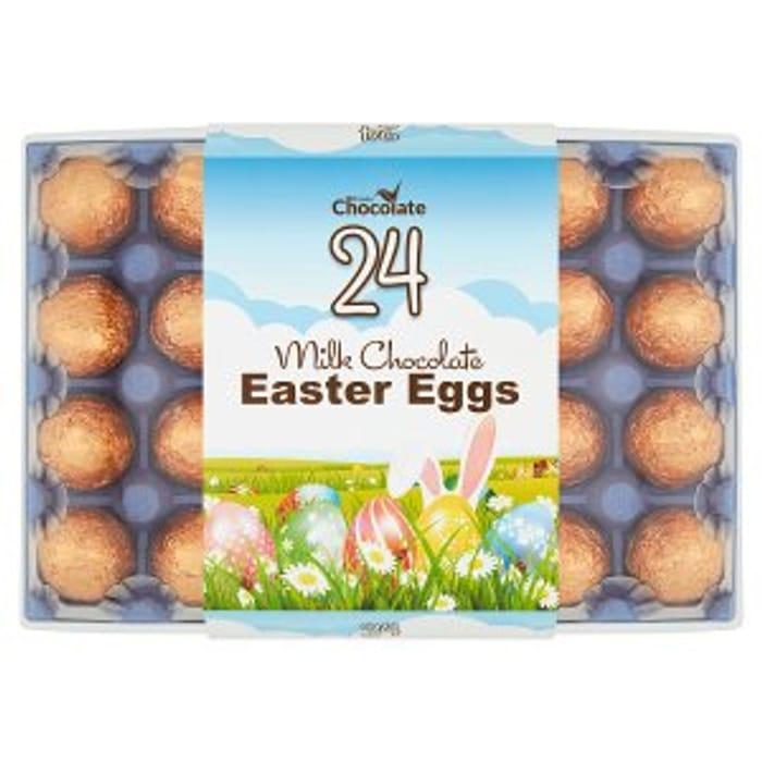 Premier Chocolate 24 Milk Chocolate Easter Eggs