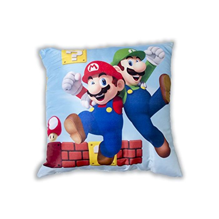 Super Mario Mario and Luigi Gang Two Sided Design Square Cushion,