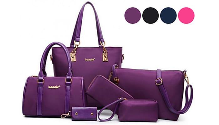 6 Luxury Bags Set - 4 Colours